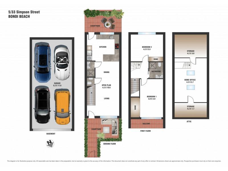 5/33 Simpson Street, Bondi Beach NSW 2026 Floorplan