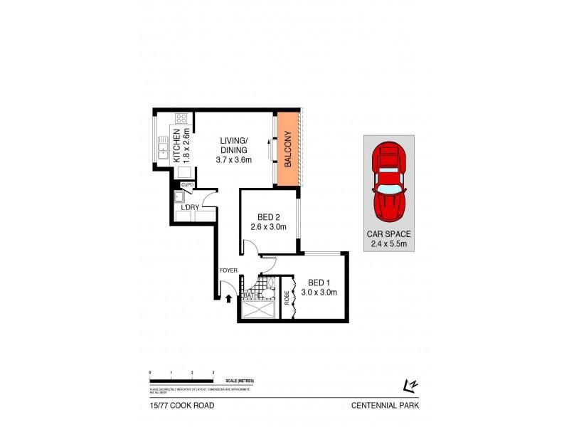 15/77-83 Cook Road, Centennial Park NSW 2021 Floorplan