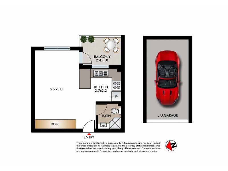 713/212 Bondi Road, Bondi NSW 2026 Floorplan
