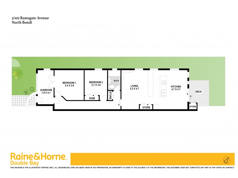 3/102 Ramsgate Avenue, Bondi Beach NSW 2026 Floorplan