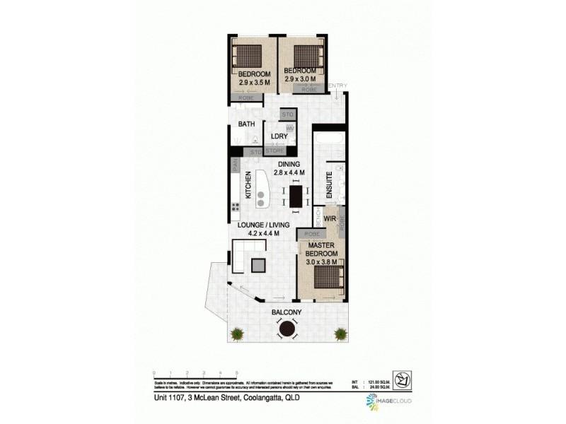 1107/3 Mclean Street, Coolangatta QLD 4225 Floorplan