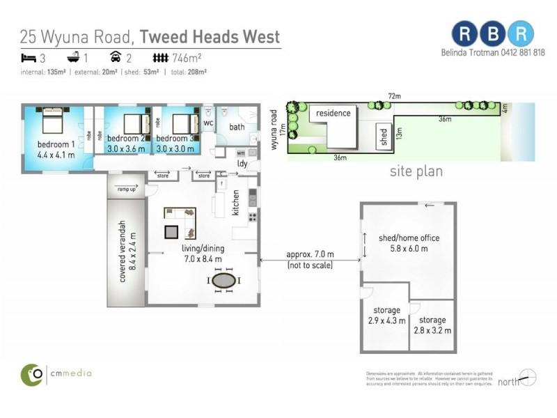 25 Wyuna Road, Tweed Heads West NSW 2485 Floorplan