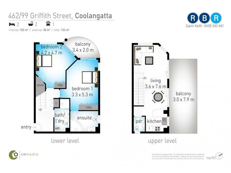 462/99 Griffith Street, Coolangatta QLD 4225 Floorplan