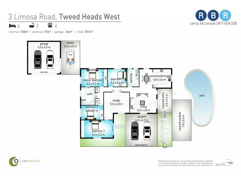 3 Limosa Road, Tweed Heads West NSW 2485 Floorplan