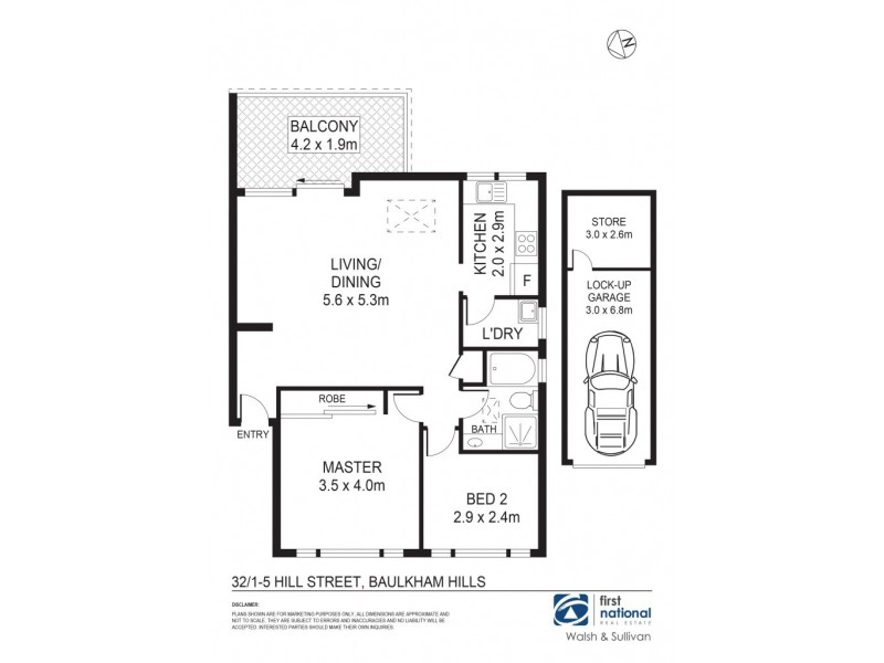 32/1-5 Hill Street, Baulkham Hills NSW 2153 Floorplan
