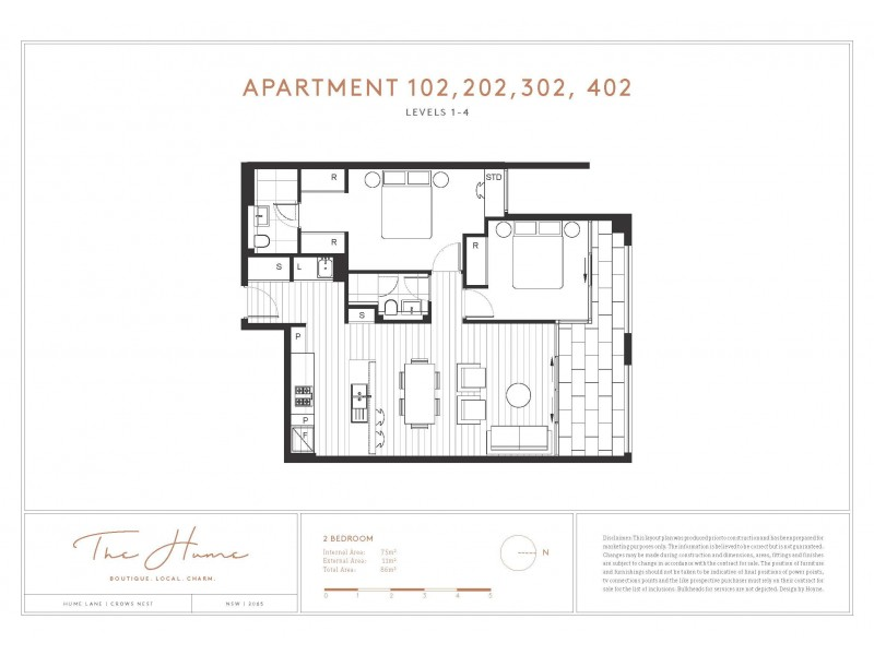 102, 302 & 402/31-33 Albany Street, Crows Nest NSW 2065 Floorplan