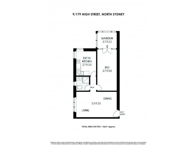9/179 High Street, North Sydney NSW 2060 Floorplan