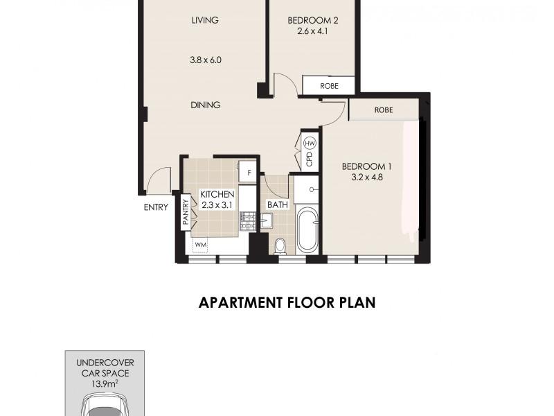 28/55 Carter Street, Cammeray NSW 2062 Floorplan