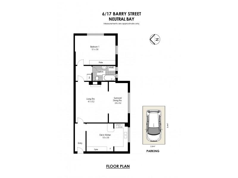 6/17 Barry Street, Neutral Bay NSW 2089 Floorplan