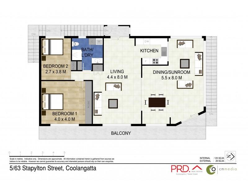 5/63 Stapylton Street, Coolangatta QLD 4225 Floorplan