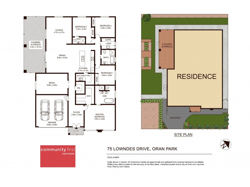 75 Lowndes Drive, Oran Park NSW 2570 Floorplan