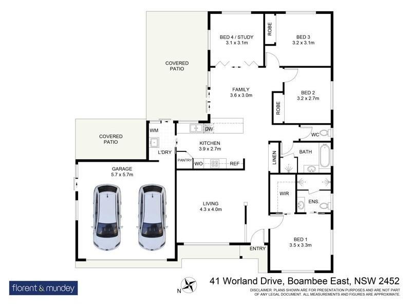 41 Worland Dr, Boambee East NSW 2452 Floorplan