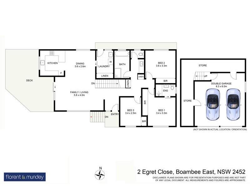 2 Egret Cl, Boambee East NSW 2452 Floorplan