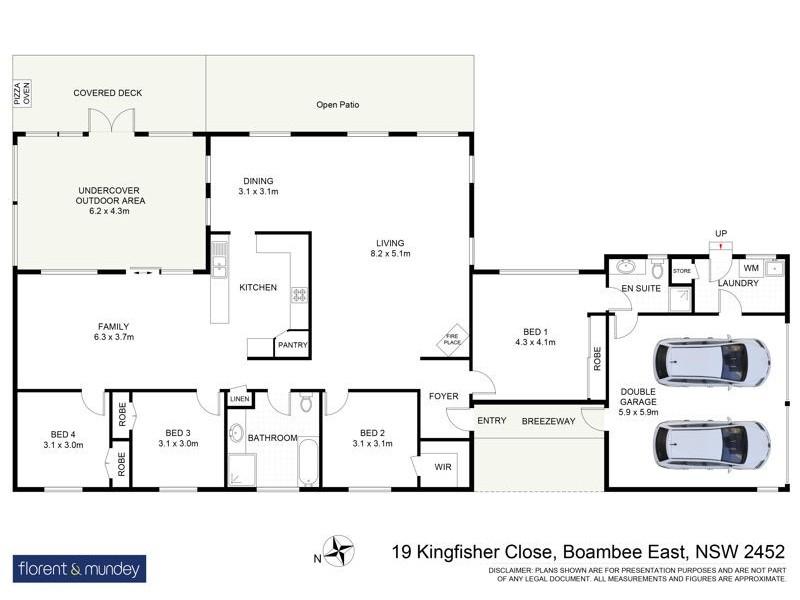 19 Kingfisher Cl, Boambee East NSW 2452 Floorplan