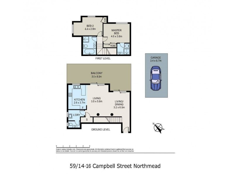59/14-16 Campbell Street, Northmead NSW 2152 Floorplan