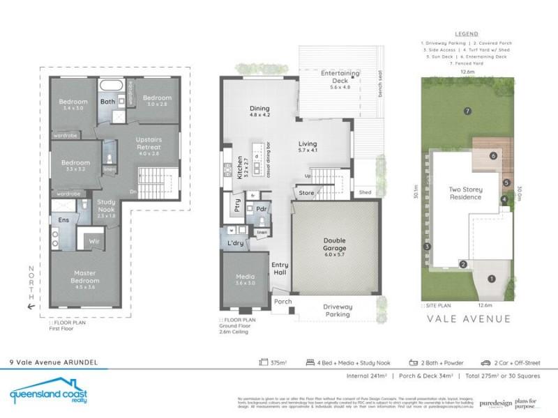 9 Vale Avenue, Arundel QLD 4214 Floorplan