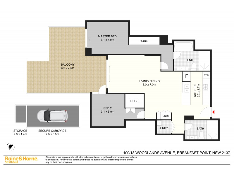 109/18 WOODLANDS AVE, Breakfast Point NSW 2137 Floorplan