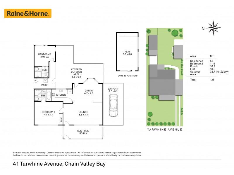 41 Tarwhine Avenue, Chain Valley Bay NSW 2259 Floorplan