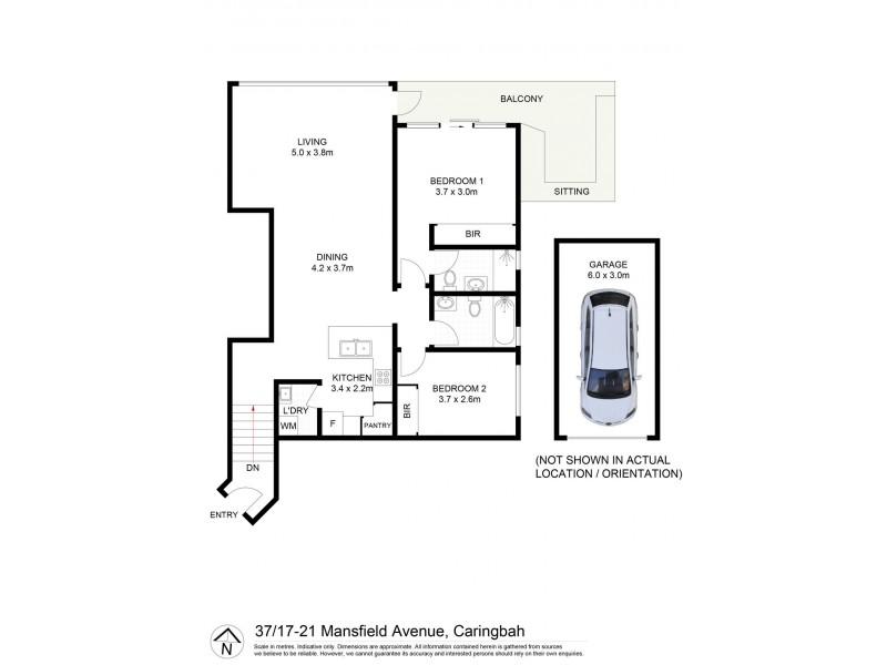 37/17-21 Mansfield Avenue, Caringbah NSW 2229 Floorplan