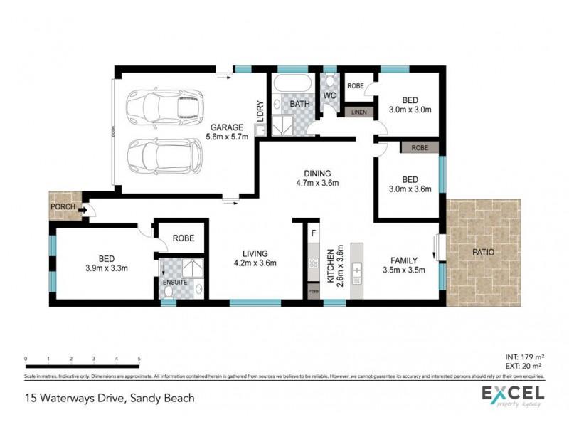 15 Waterways Drive, Sandy Beach NSW 2456 Floorplan