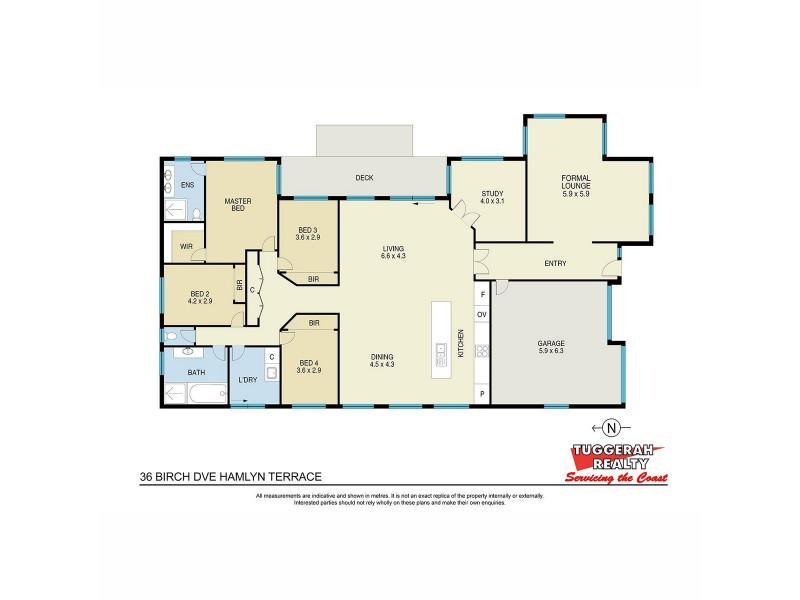 36 Birch Drive, Hamlyn Terrace NSW 2259 Floorplan