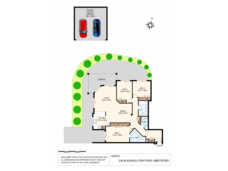 2/3A Blackwall Point Road, Abbotsford NSW 2046 Floorplan