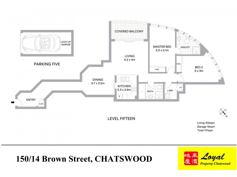 150/14 Brown Street, Chatswood NSW 2067 Floorplan