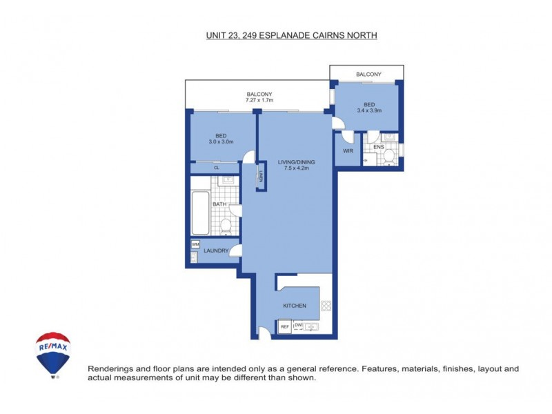 23/249 Esplanade, Cairns North QLD 4870 Floorplan
