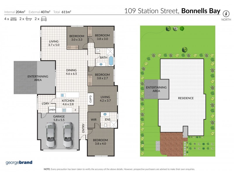 109 Station Street, Bonnells Bay NSW 2264 Floorplan