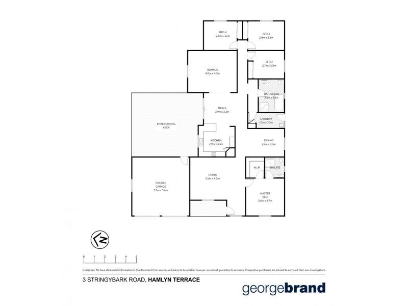3 Stringybark Road, Hamlyn Terrace NSW 2259 Floorplan