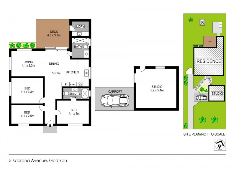 5 Koorana Avenue, Gorokan NSW 2263 Floorplan