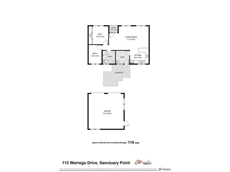 113 Warrego Drive, Sanctuary Point NSW 2540 Floorplan
