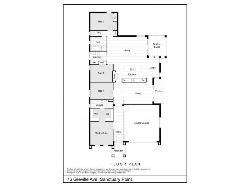 76 Greville Avenue, Sanctuary Point NSW 2540 Floorplan
