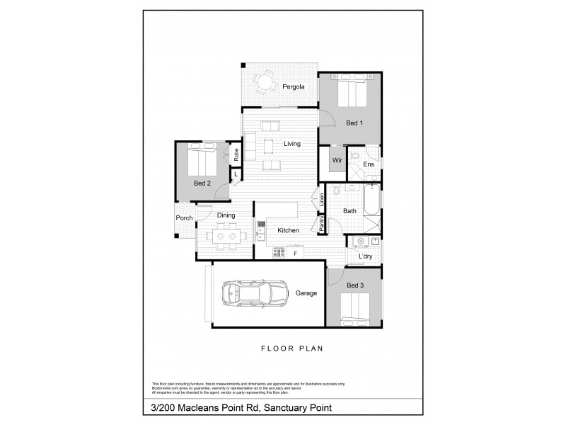 3/200 Macleans Point Road, Sanctuary Point NSW 2540 Floorplan