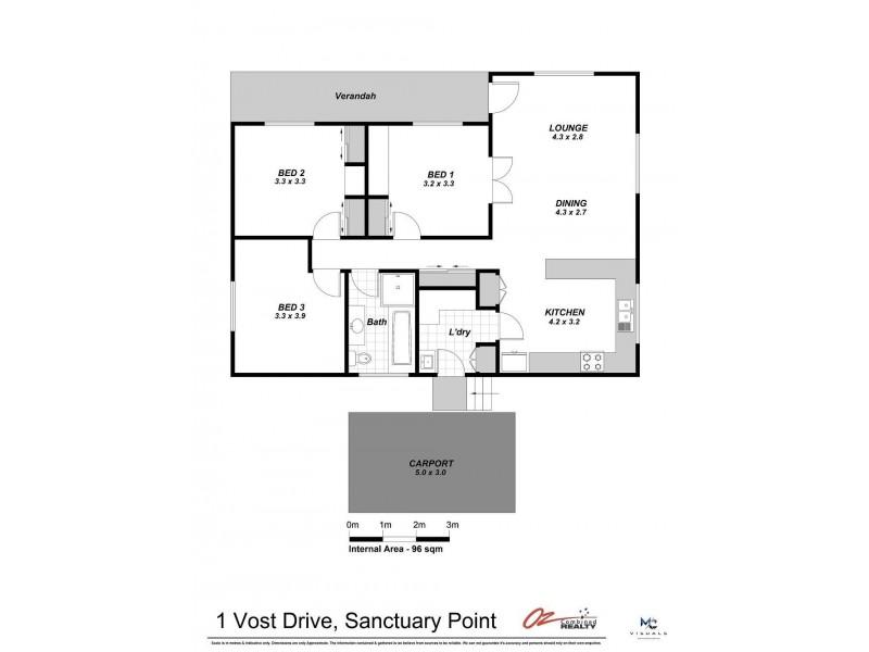 1 Vost Drive, Sanctuary Point NSW 2540 Floorplan
