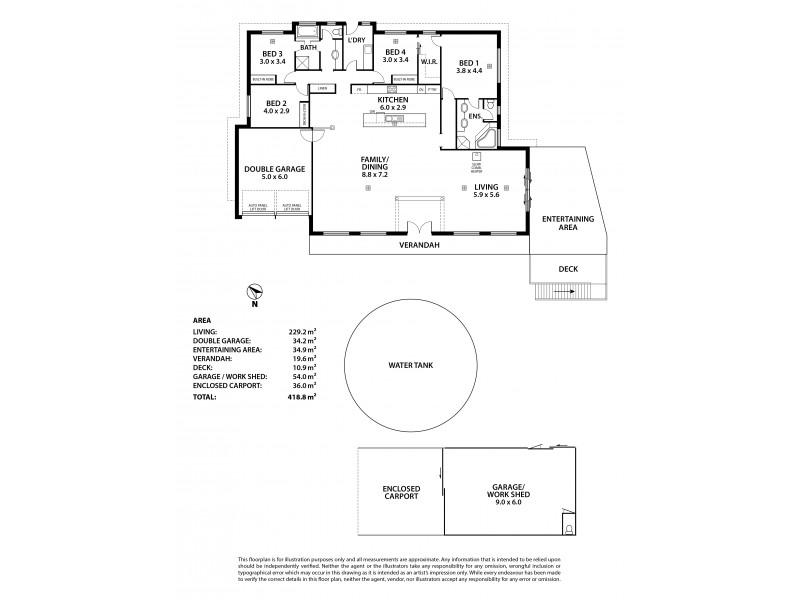 39 Wirrinilla Drive, Macclesfield SA 5153 Floorplan