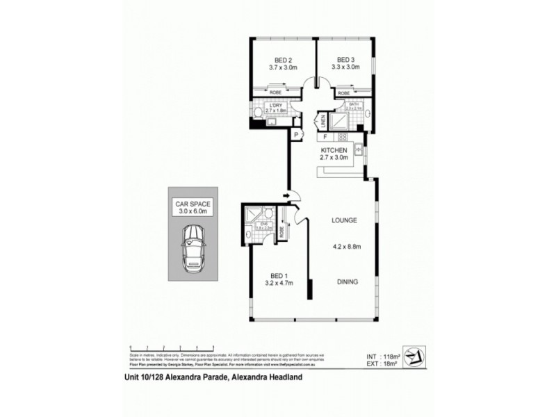 Apt 10 Shara, 128 Alexandra Pde, Alexandra Headland QLD 4572 Floorplan