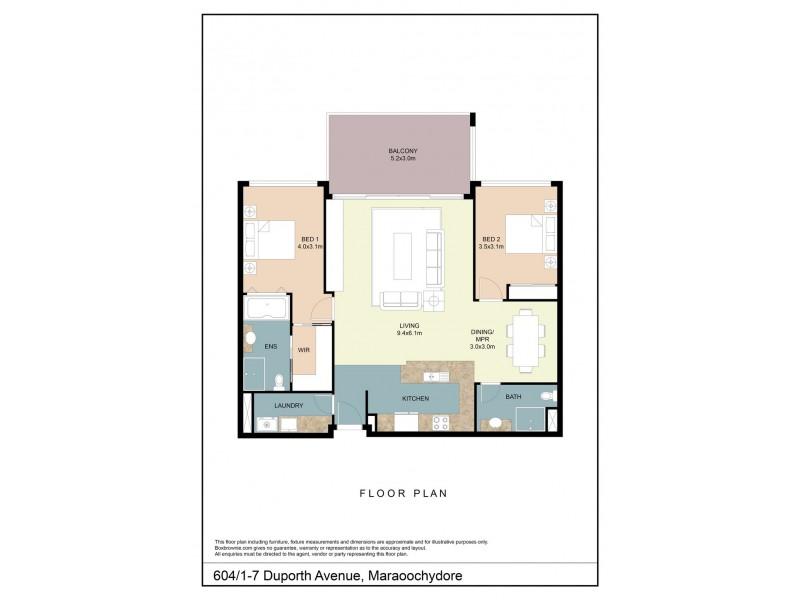 604/1-7 Duporth Avenue, Maroochydore QLD 4558 Floorplan