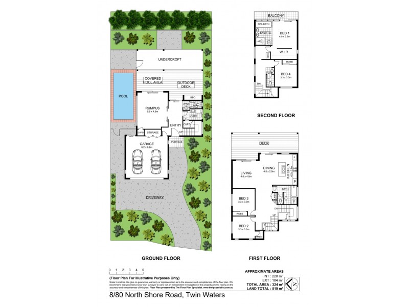 8/80 North Shore Road, Twin Waters QLD 4564 Floorplan