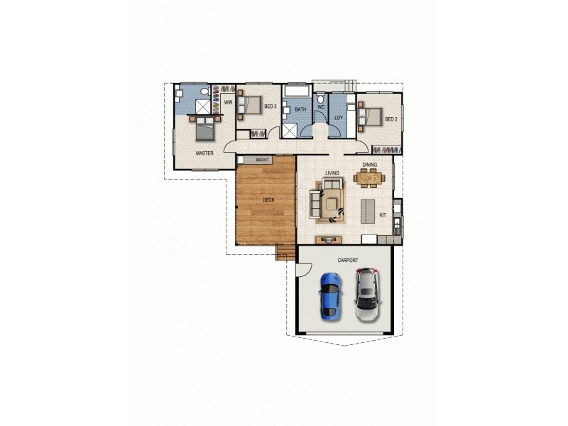 Lot 33 Scarlet Gum Drive, Cannonvale QLD 4802 Floorplan