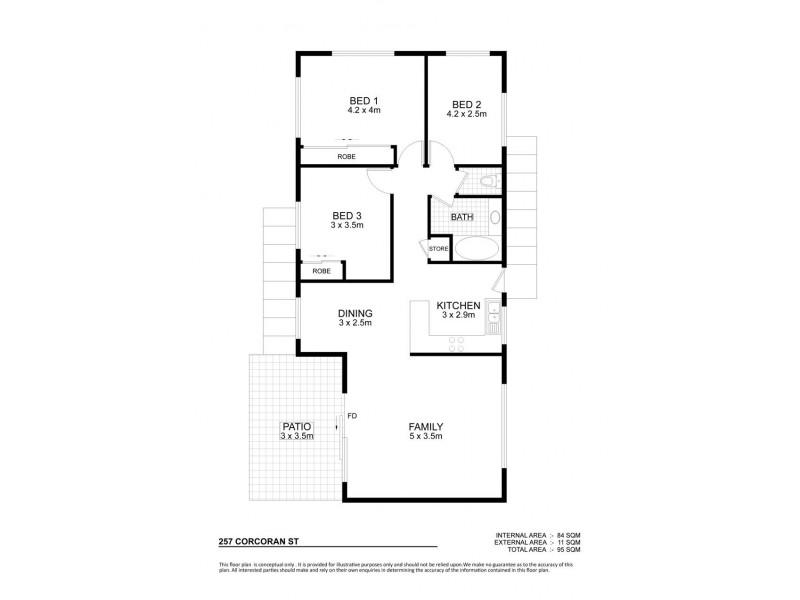 257 Corcoran Street, Currajong QLD 4812 Floorplan