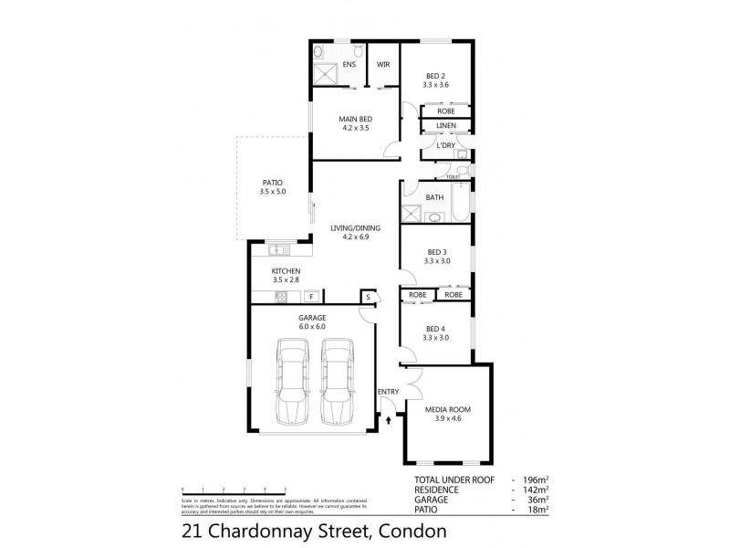 21 Chardonnay Drive, Condon QLD 4815 Floorplan