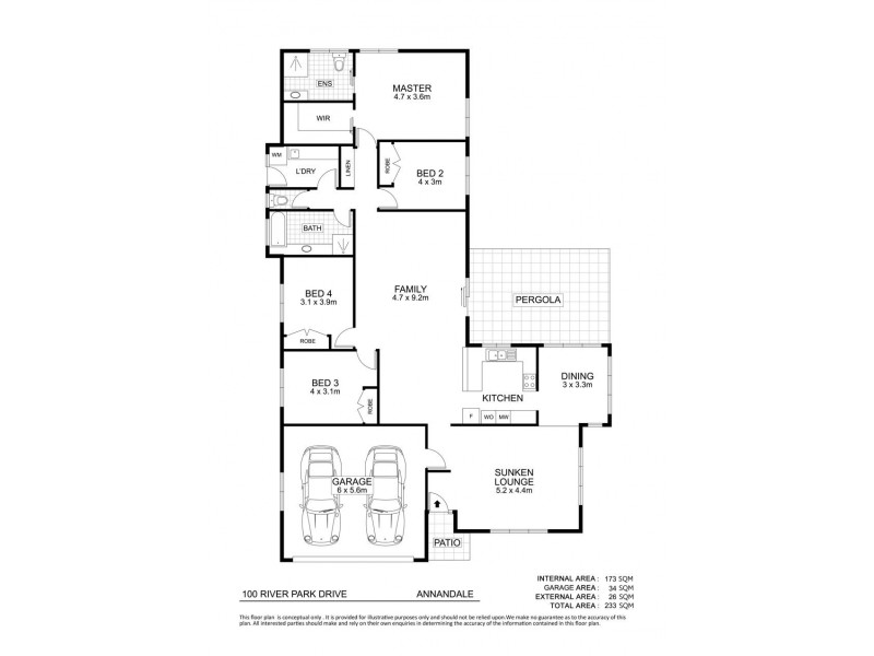100 River Park Drive, Annandale QLD 4814 Floorplan