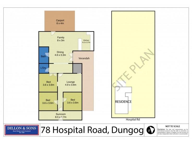 78 Hospital Road, Dungog NSW 2420 Floorplan