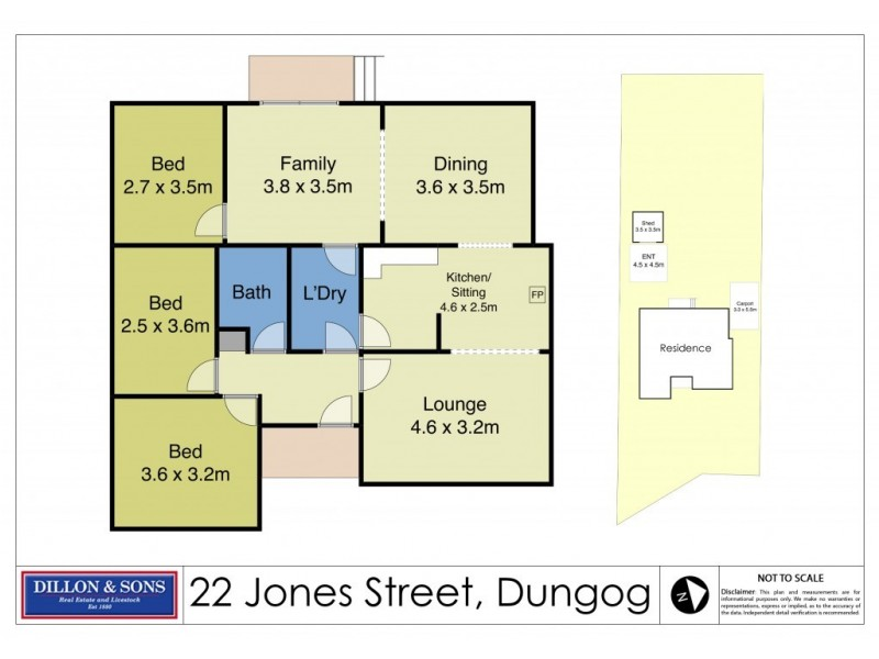 22 Jones Street, Dungog NSW 2420 Floorplan