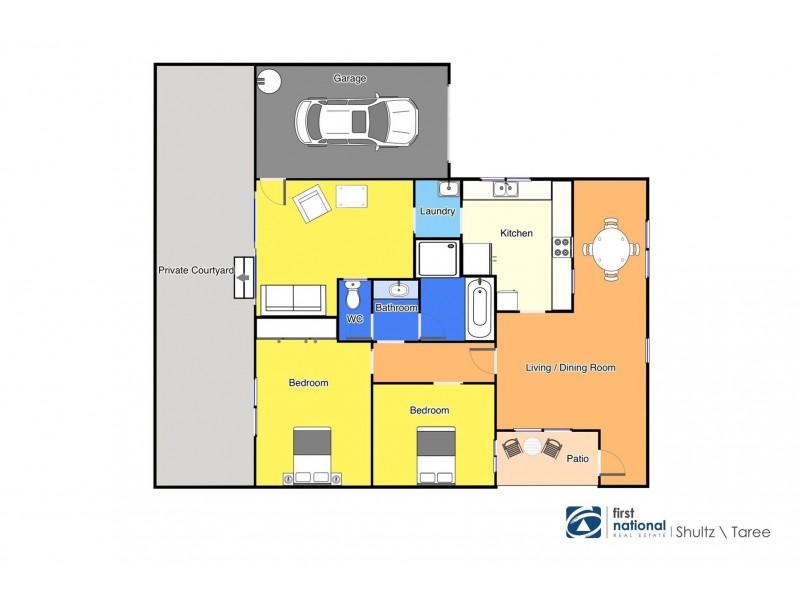 12/16 Spence Street, Taree NSW 2430 Floorplan