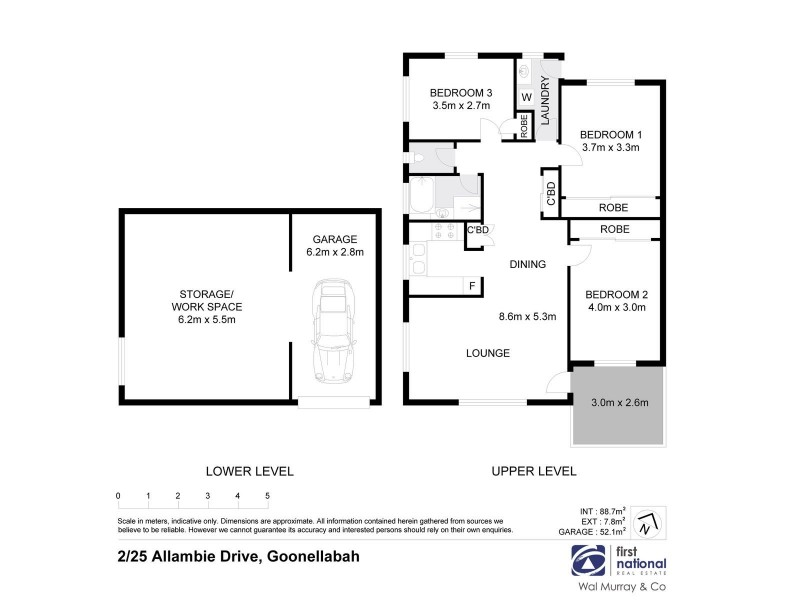 2/25 Allambie Drive, Goonellabah NSW 2480 Floorplan