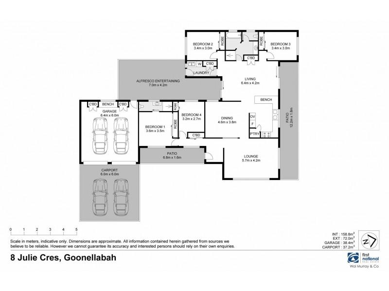 8 Julie Crescent, Goonellabah NSW 2480 Floorplan