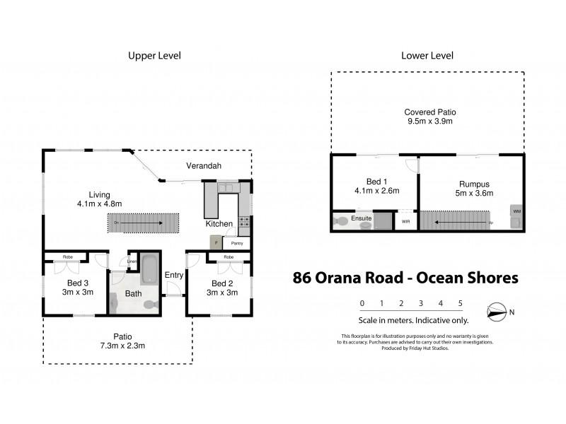 86 Orana Road, Ocean Shores NSW 2483 Floorplan