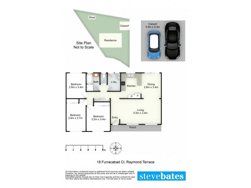 18 Furracabad Close, Raymond Terrace NSW 2324 Floorplan